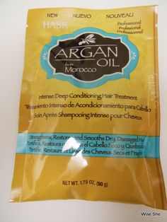 Hask Argan Oil  Intense Deep Conditioning Hair Treatment Review