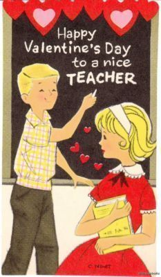 1940s vintage Valentine  children sing for their teacher