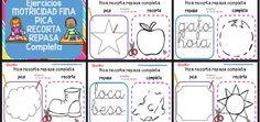 Pica recorta repasa y completa Notebook, Bullet Journal, Writing, Education, School, Base, Spanish, Ideas Para, Montessori