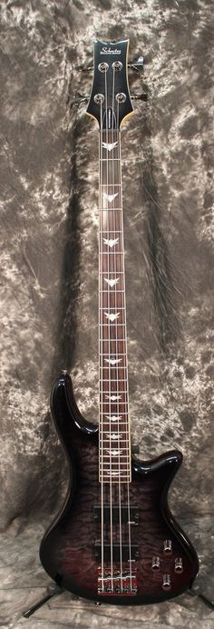 Schecter Guitar Research Stiletto Extreme-4 Electric Bass See-Thru Black