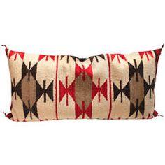 Navajo Indian Weaving Broken Stars Bolster Pillow