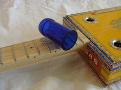 Cigar Box Guitar Bottleneck Silde  Cobalt Blue by NashvilleCBG, $10.95