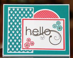 Dynamic Hello by ladybugdesigns - Cards and Paper Crafts at Splitcoaststampers