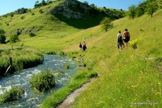 Dovedale and Lathkil, Peak District National Park. stepping stones, gorge and swimming