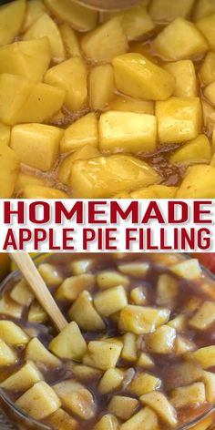 Homemade Apple Pie Filling is easy to make and can be used in plenty of desserts, like homemade apple pie, and it tastes so much better than the canned version. pies Best Homemade Apple Pie Filling - Sweet and Savory Meals Apple Pie Recipe Easy, Homemade Apple Pie Filling, Easy Pie Recipes, Apple Pie Recipes, Cooking Recipes, Apple Pie Fillings, Recipe For Apple Pie Filling, Best Peach Pie Recipe, Freezer Apple Pie Filling