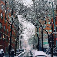 [124 Columbia Heights on the left and 107 on the right.]