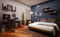 Pintar colores fuertes en paredes de dormitorios