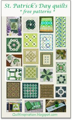 Free quilt patterns for St. Patrick's Day : Quilt Inspiration