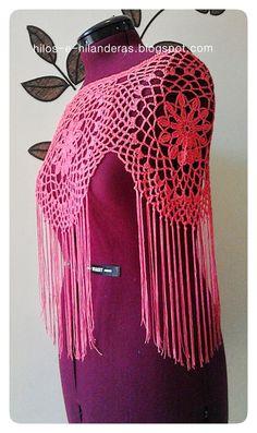 hilos e hilanderas: Seguimos con moda flamenca 2014: ¿poncho o mantoncillo?