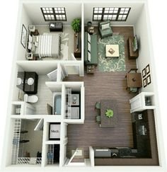 Tiny House Floor Plans   Brookside 3d floor plan 1 by ~dave5264 on on