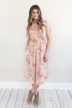 Our best-selling Make Me Blush mid-length dress makes a beloved addition to your dress collection. Invite your friends for a tea party and greet them at the door wearing this super-soft number that fe