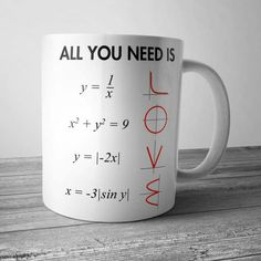 All you need is COFFEE + MATH = LOVE