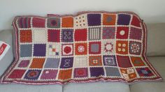 Finished mystery crochet blanket 2016, patterns from www.breiclub.nl