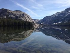 Tenaya Lake in the high country of Tuolumne in the summer.