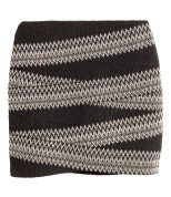 Check this out! Short, fitted skirt in textured, elasticized fabric. Unlined. - Visit hm.com to see more.