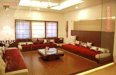 Indian Home Design Ideas and Images by Renomania Indian Home Design, Indian Home Interior, Home Interior Design, Floor Design, House Design, Wooden Flooring, Hardwood, Bed, Photos
