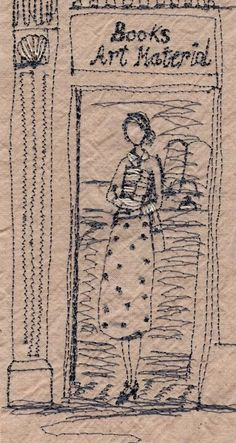 Betty by Michelle Holmes Machine Embroidery Quilts, Free Motion Embroidery, Free Motion Quilting, Cross Stitch Embroidery, Embroidery Patterns, Hand Embroidery, Chicken Scratch Embroidery, Thread Art, Textile Artists