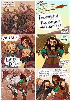 Fili and Kili's mum to the rescue. I found this a little too funny, lol ^-^