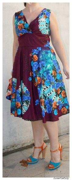 Flashy colors for a Lutterloh dress