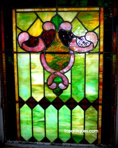 A very old American stained glass