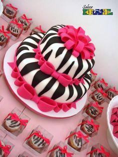 Pastel y cupcakey de cebra