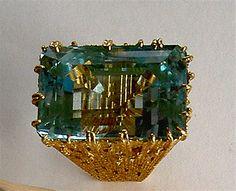 Andrew Grima 23 carat flawless Aquamarine set in gold