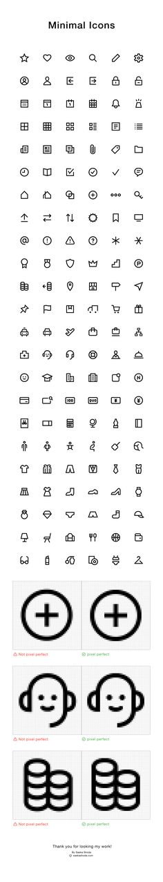 Works | Minimal Icons on Behance