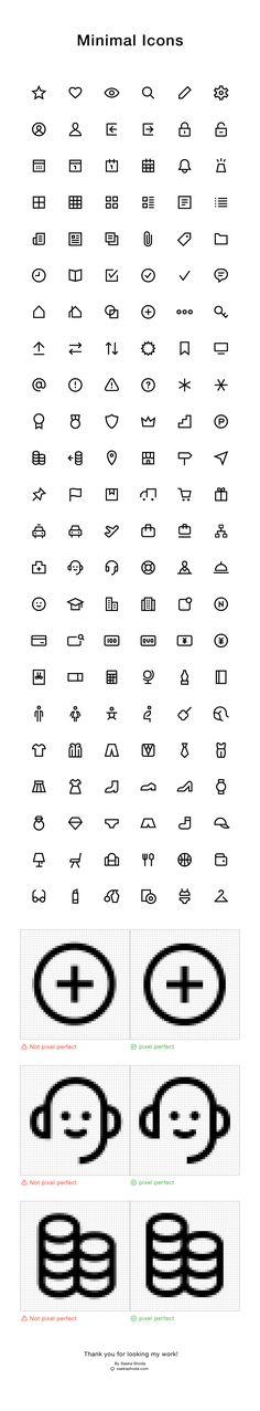 Works | Minimal Icons on Behance