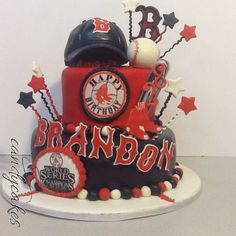 Boston Red Sox Birthday Cake for my Son