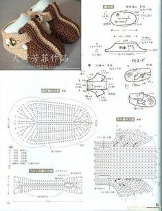 Patrones para zapatos de bebé en crochet - Crochetisimo