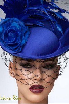 Fashion,Beauty,Landscape,Home Designe,Sexy Girls. Royal Blue Fascinator, Fascinator Hats, Headpiece, Fascinators, Headdress, Dali, Kentucky Derby, Blue Fashion, Fashion Beauty