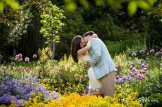 The bountiful flowers at @Duke Gardens are the perfect backdrop for gorgeous engagement and wedding photography! We love this shot from @Anna Kirby. #durham #durhamvenue #weddingvenue #nc #engagement #engagementphotography #esession
