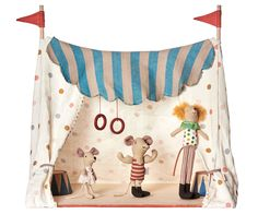 Circus Tent with 3 Circus Characters - Maileg USA -The Magical World of Maileg