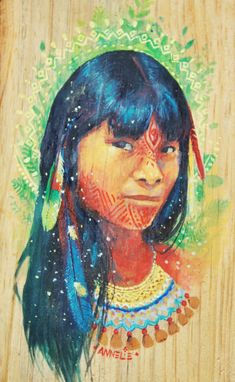 The mystical, fantastical, spiritual art of Annelie Solis. About the artist. Art And Illustration, Graphic Design Illustration, Native American Paintings, Native American Art, Rainbow Warrior, Arte Tribal, Small Paintings, Dope Art, Visionary Art