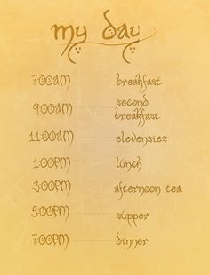 hobbit eating schedule.. funny lord of the rings digital download - This would be really cute to hang in the kitchen. So I think I will.