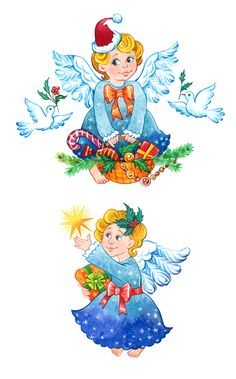 christmas clipart angels, christmas angel clipart, angel painting, xmas angel cards