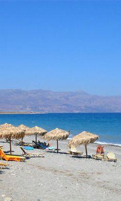 Maleme Beach in Chania, Crete