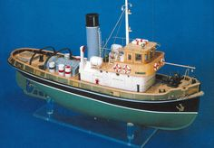 Mantua Models ANTEO Tug Boat Kit   Hobbies This radio controlled model is a replica of an Italian steam tug boat large numbers of which were built prior to the last war, many of which are still in service in the main Italian ports.