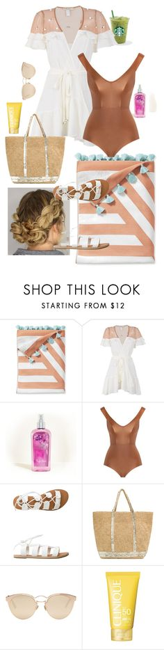 """""""Beach Day"""" by lrnxv ❤ liked on Polyvore featuring Serena & Lily, For Love & Lemons, Hollister Co., Zimmermann, Billabong, Vanessa Bruno, Christian Dior and Clinique"""