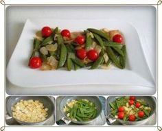 Rezept: Schmackhafter Salat aus jungen Erbsenschoten, Cherry Rispentomaten und Zwiebel Bild Nr. 16