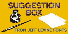 Suggestion Box JNL font download