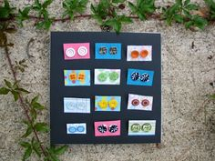 Button Earrings- a great craft for kids 4 and up with pierced ears! Main Library, Button Earrings, Ear Piercings, Ears, Crafts For Kids, Public, Buttons, Frame, Crafts For Children