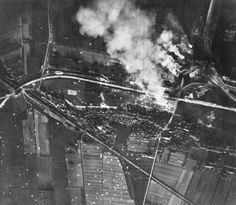 Rotterdam Waalhaven Airport, Aerial photograph of burning airport