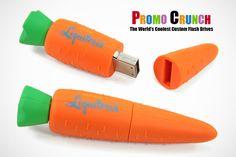 Carrot custom USB Flash Drives for marketing and promotion #marketing #advertising #USB