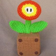 free, Super Mario Fire Flower amigurumi pattern