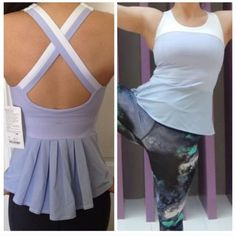 ❗VERY RARE❗ NWOT Lululemon peplum tank Brand new!, never worn, tags detached!! Super rare, especially in this color. Fabric is Luxtreme. Support medium, integrated bra. Cups available upon request. $70 on ♏️ercari  ❌No trades ❌ lululemon athletica Tops Tank Tops