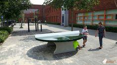 Pingpongtafel Rond Groen bij SBO de Schilderspoort in Zevenaar