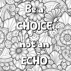 abstract coloring pages with words | 361 Best Coloring: Inspirational Words images | Coloring ...