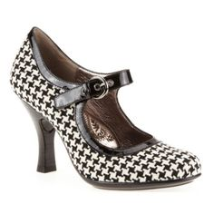 Söfft Mary Janes Houndstooth Strap Pumps