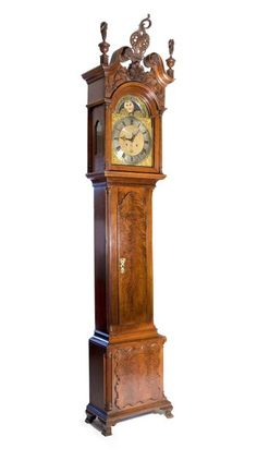 Earliest Known Garvan Carver Philadelphia Tall Case Clock